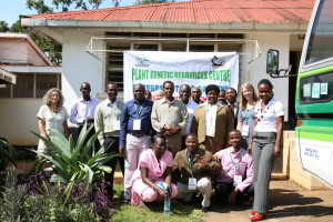 Dr. Kate Gold and Emma Williams of Kew Gardens with members of the training course at the Plant Genetic Resources Centre